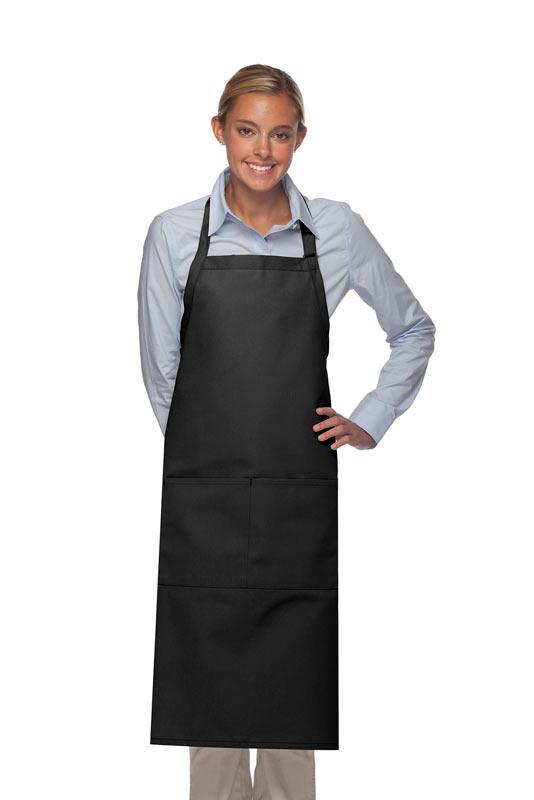 Black 2 Pocket Adjustable XL Butcher Apron