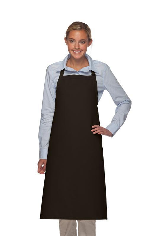 Black Deluxe XL Butcher Adjustable Apron (No Pockets)