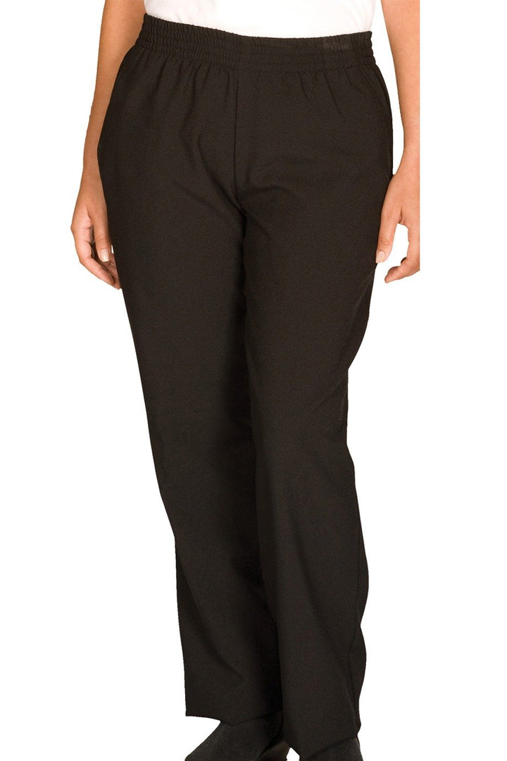 Black Spun Polyester Women's Housekeeping Pant
