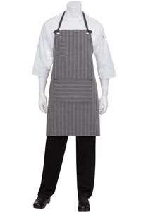 Charcoal & Grey Brooklyn Bib Apron