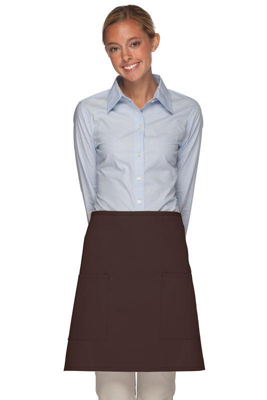 Brown 2 Patch Pocket Half Bistro Apron