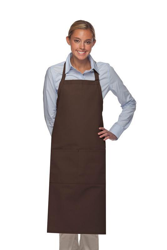 Brown Deluxe XL Butcher Adjustable Apron (2 Pockets)