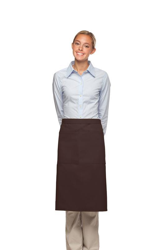 Brown 2 Pocket Three Quarter Bistro Apron
