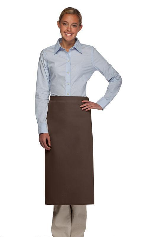 Brown No Pocket Full Bistro Apron