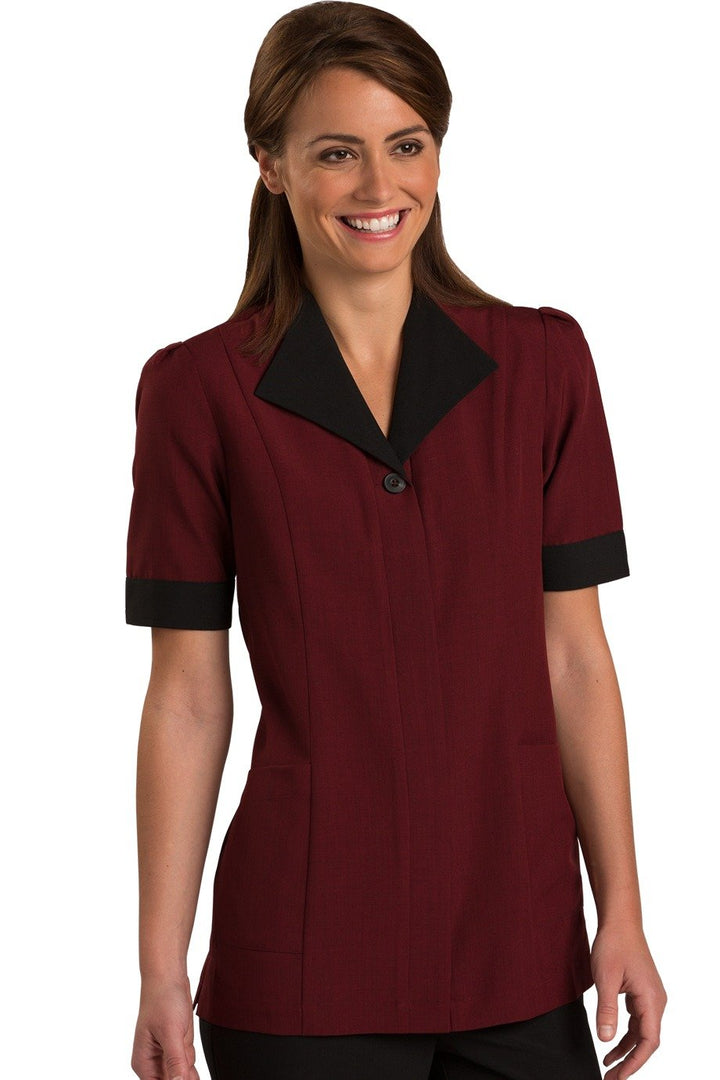 Burgundy Pinnacle Housekeeping Tunic