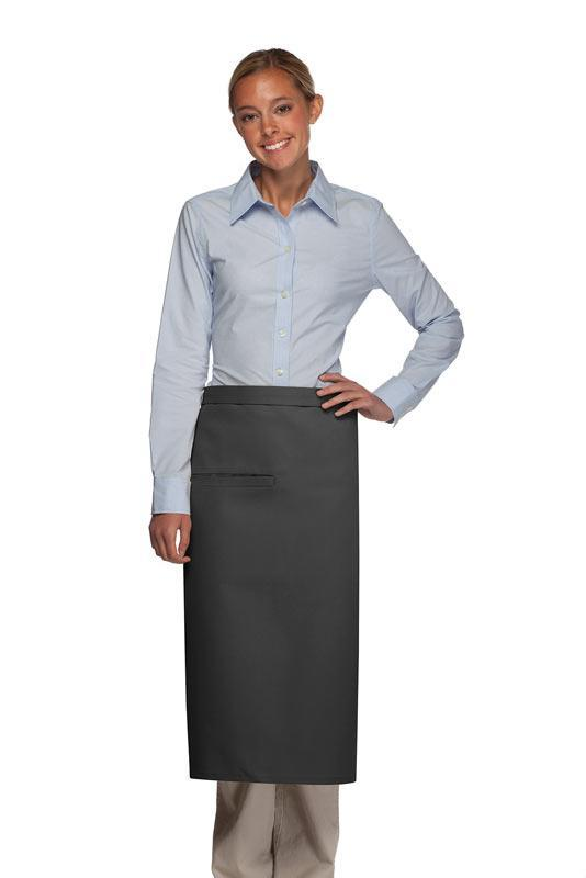 Charcoal Full Bistro Apron (1 Inset Pocket)