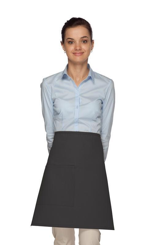 Charcoal 1 Pocket Half Bistro Apron