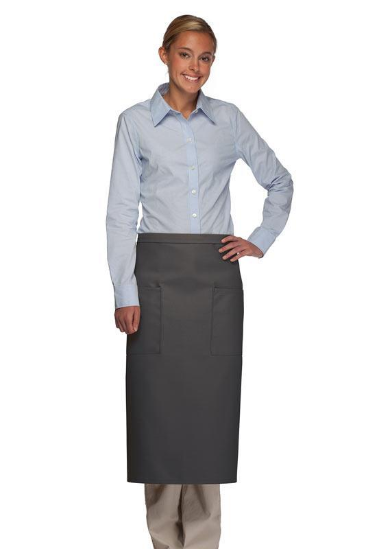 Charcoal 2 Patch Pocket Full Bistro Apron