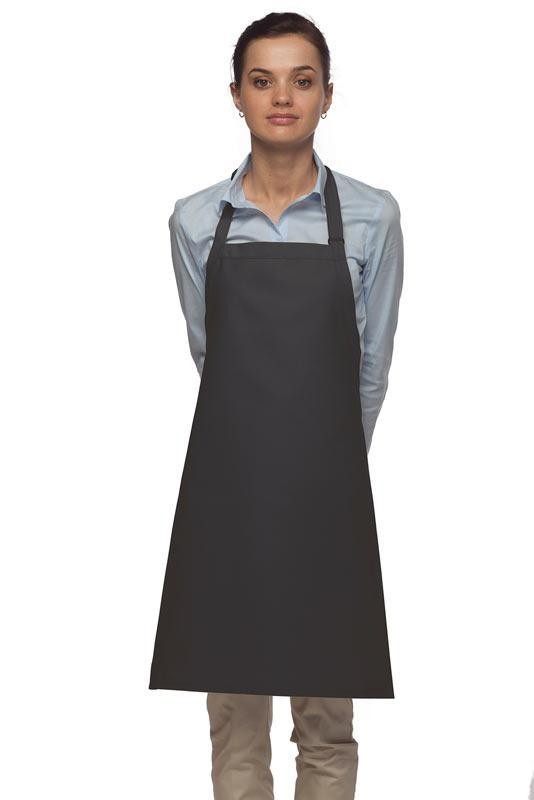 Charcoal No Pocket Adjustable Bib Apron