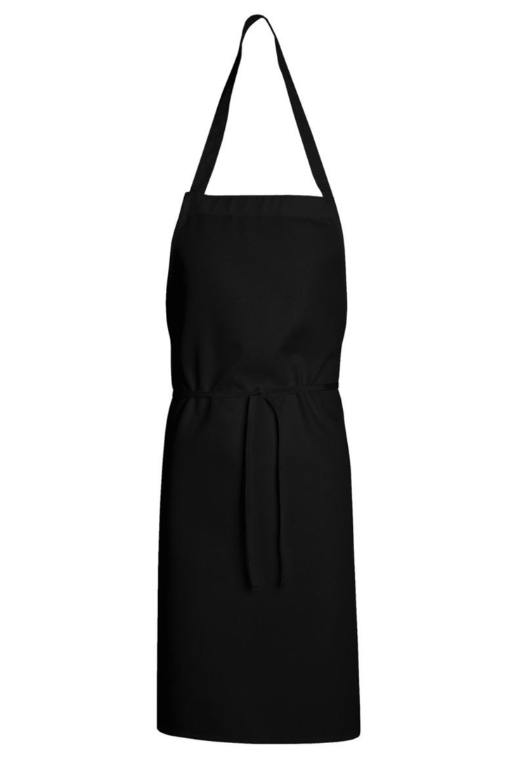 Black Standard Bib Apron (No Pockets)