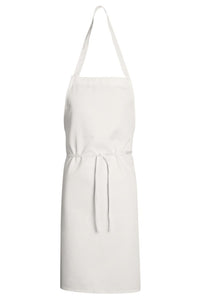 White Standard Bib Apron (No Pockets)