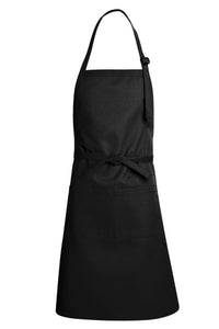 Black Premium Adjustable Apron (1 Split Pocket)