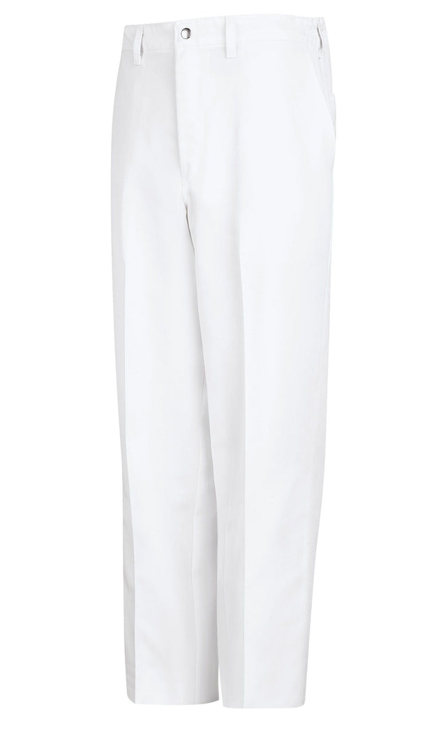 Men's Black And White Cook Pant With Zipper Fly
