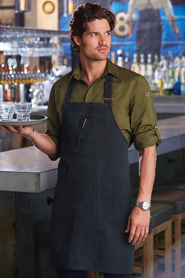 Steel Grey Rockford Bib Apron