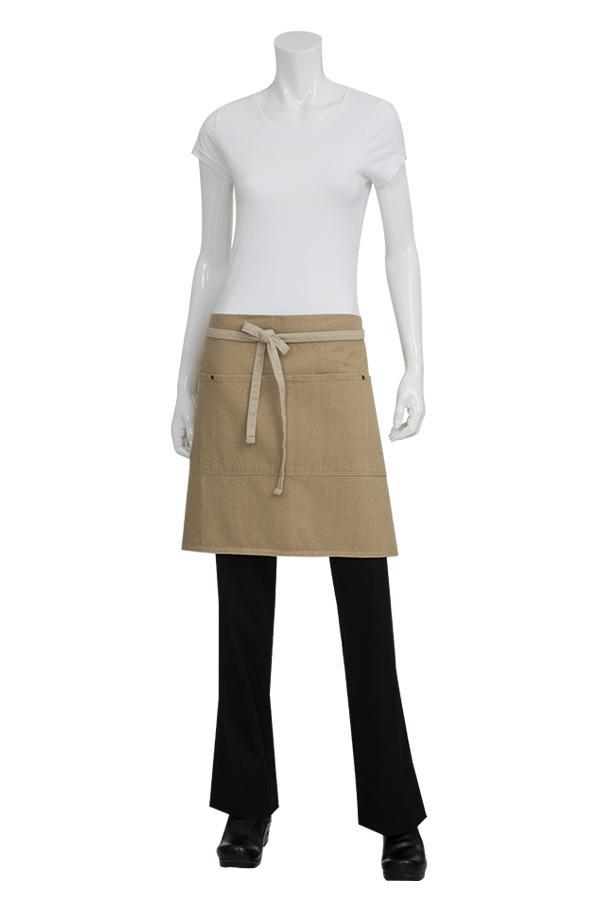 Natural Austin Half Bistro Apron (2 Pockets)