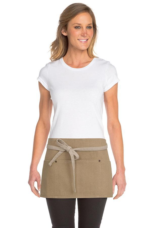 Natural Austin Waist Apron (3 Pockets)