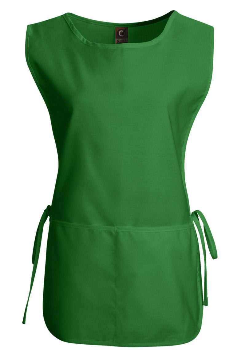 Kelly Green Cobbler Apron (1 Split Pocket)