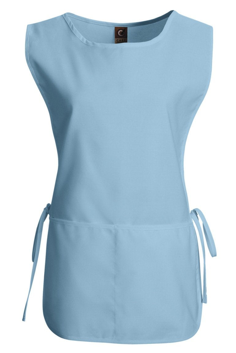 Light Blue Cobbler Apron (1 Split Pocket)