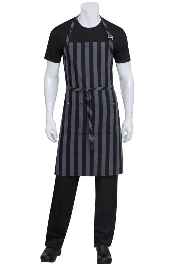 Chesapeake Black Bib Apron