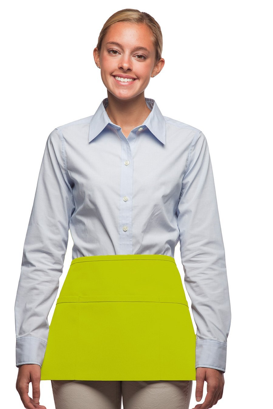 Lime Deluxe XL Waist Apron (3 Pockets)