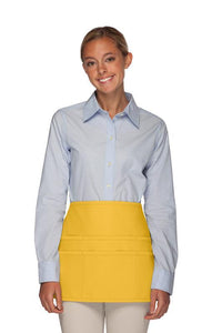 Yellow Rounded Waist Apron (6 Pockets)