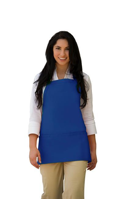 Cobalt Deluxe XL Bib Adjustable Apron (3 Pockets)