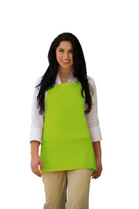 Lime Deluxe Bib Adjustable Apron (3 Pockets)
