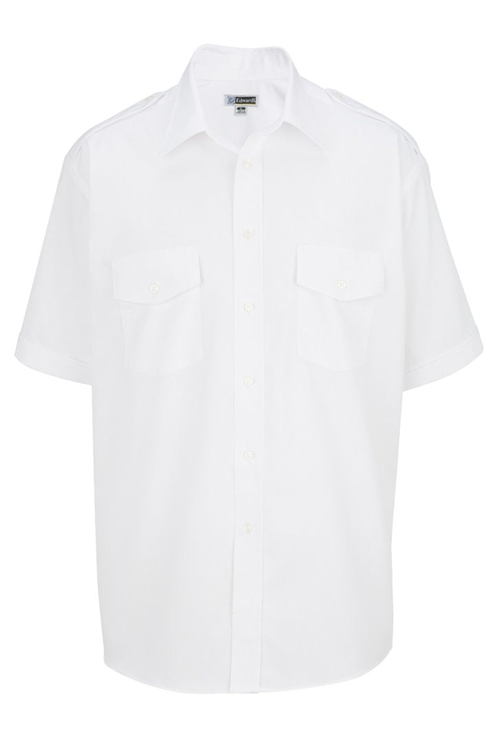 Men's White Short Sleeve Navigator Shirt
