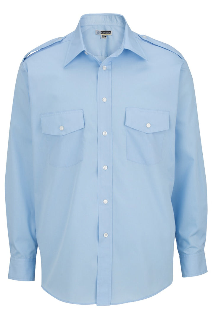 Men's Blue Long Sleeve Navigator Shirt
