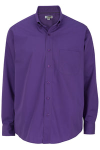 Men's Purple Lightweight Long Sleeve Poplin Shirt