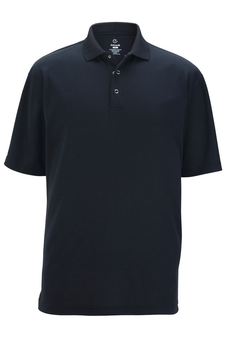 Men's Navy Snap Front Hi-Performance Short Sleeve Polo