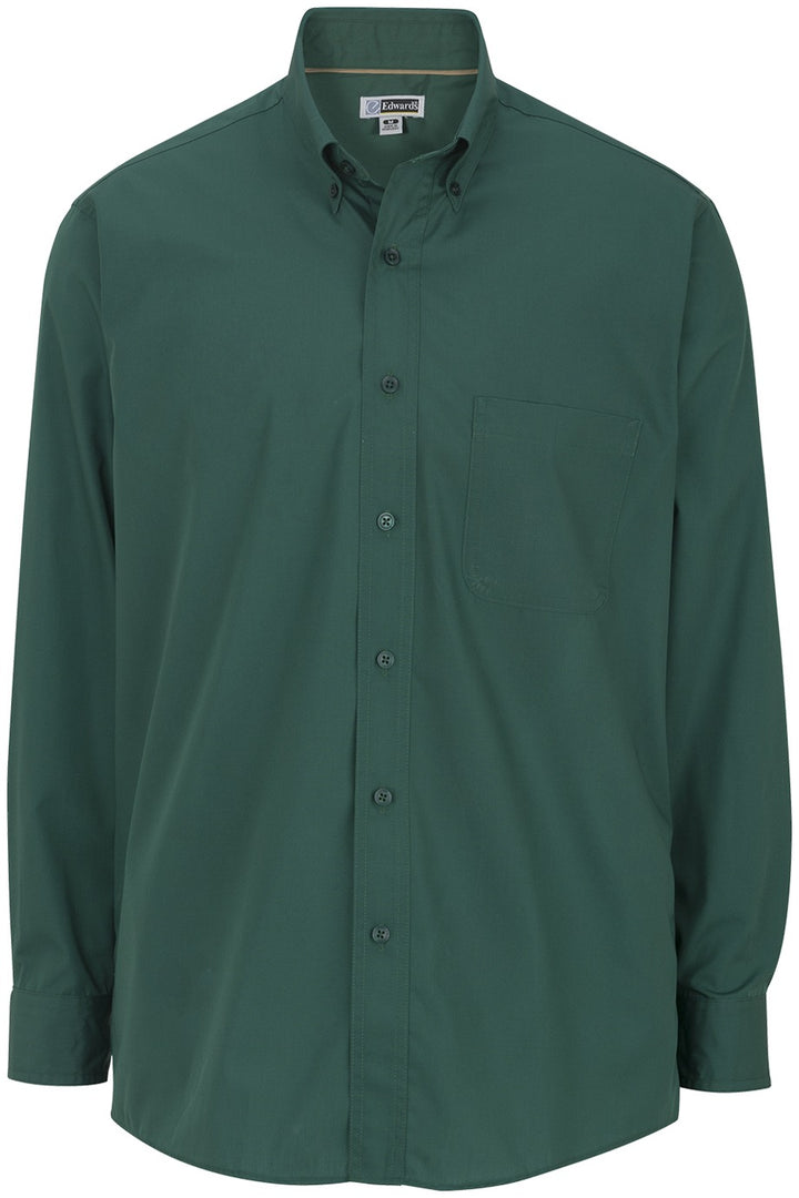 Men's Forest Cotton Plus Long Sleeve Twill Shirt