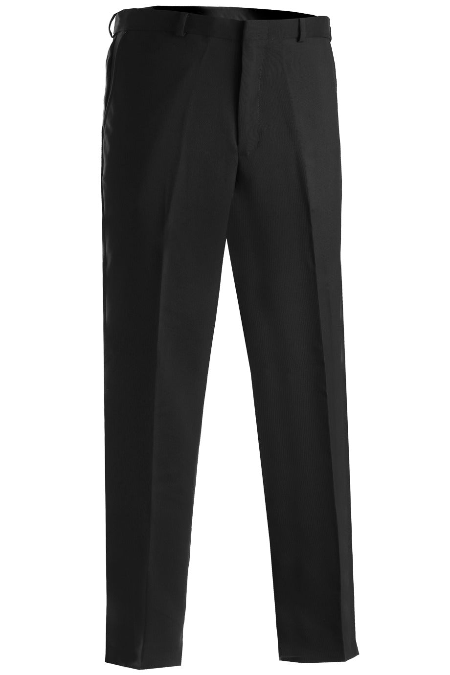 Men's Black Flat Front Security Pant