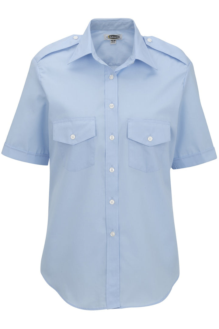 Women's Blue Short Sleeve Navigator Shirt