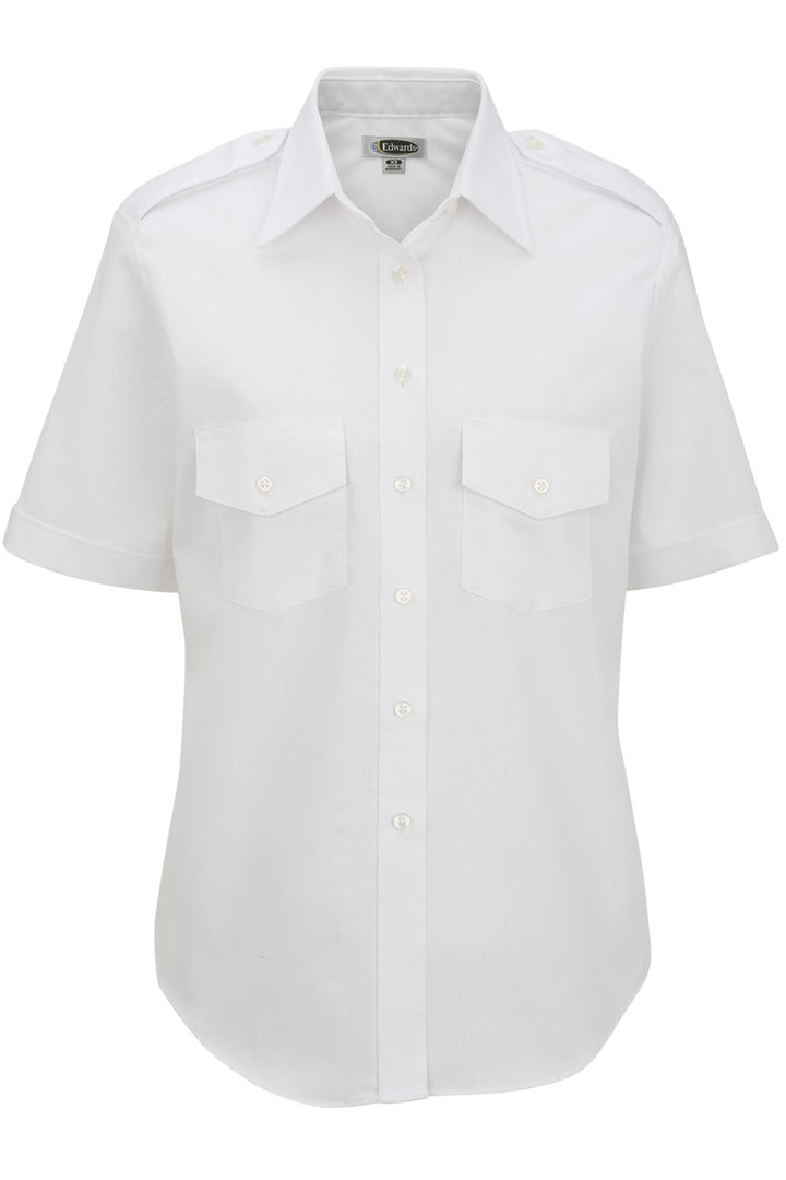 Women's White Short Sleeve Navigator Shirt