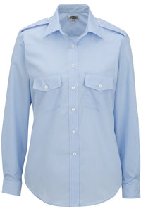 Women's Blue Long Sleeve Navigator Shirt