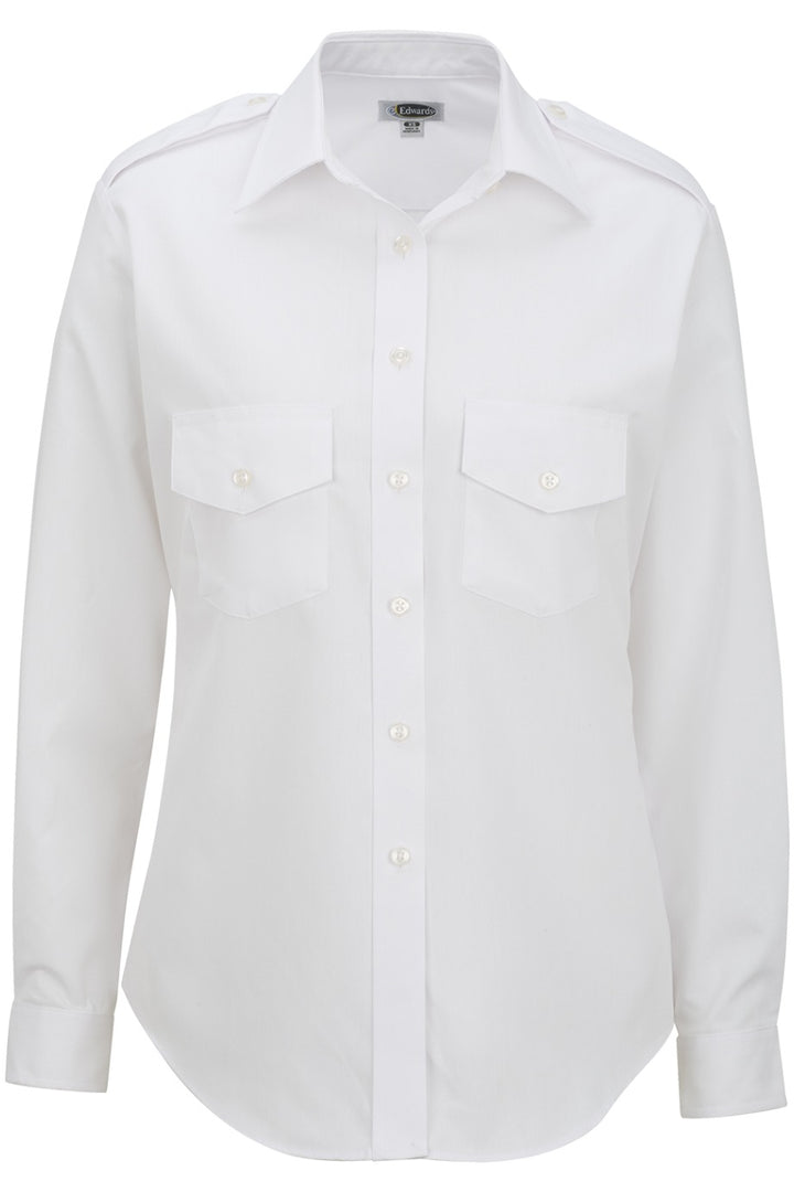 Women's White Long Sleeve Navigator Shirt