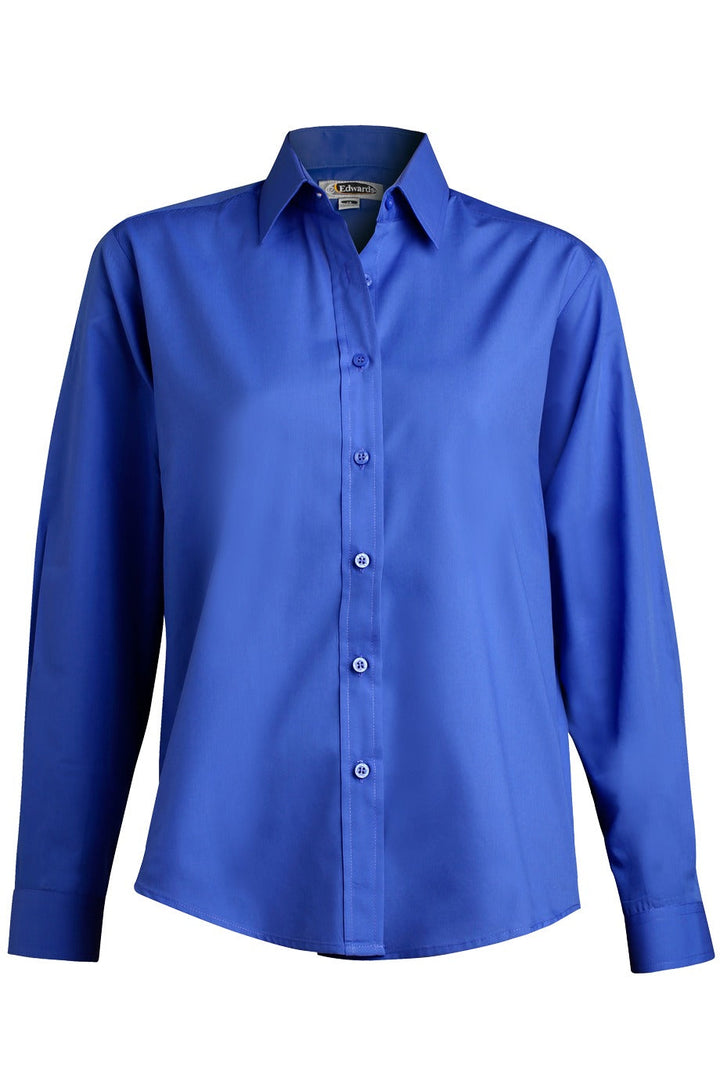 Women's Royal Blue Long Sleeve Value Broadcloth Shirt