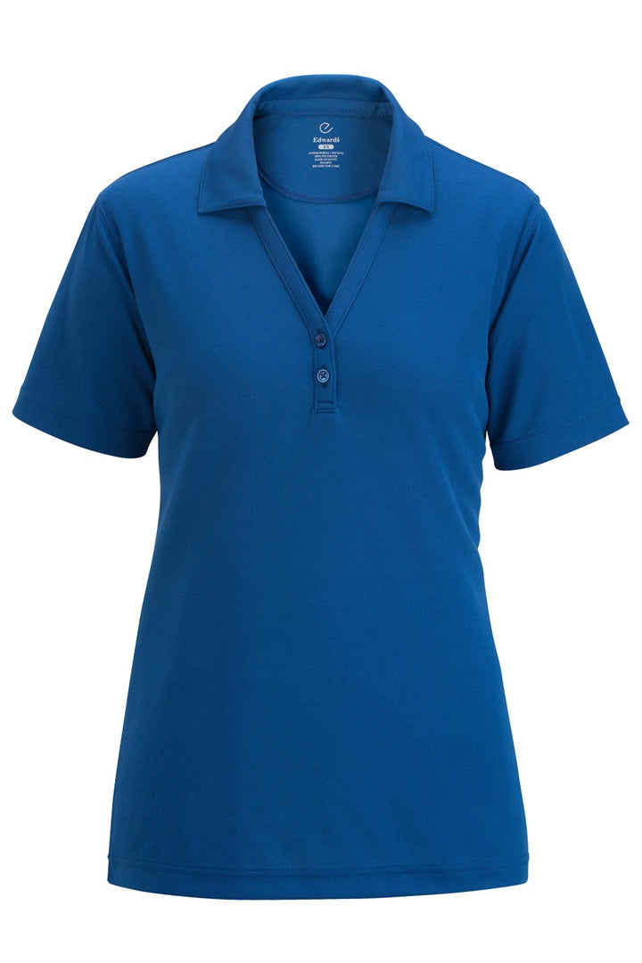 Women's Royal Blue Hi-Performance Mesh Polo w/ Johnny Collar