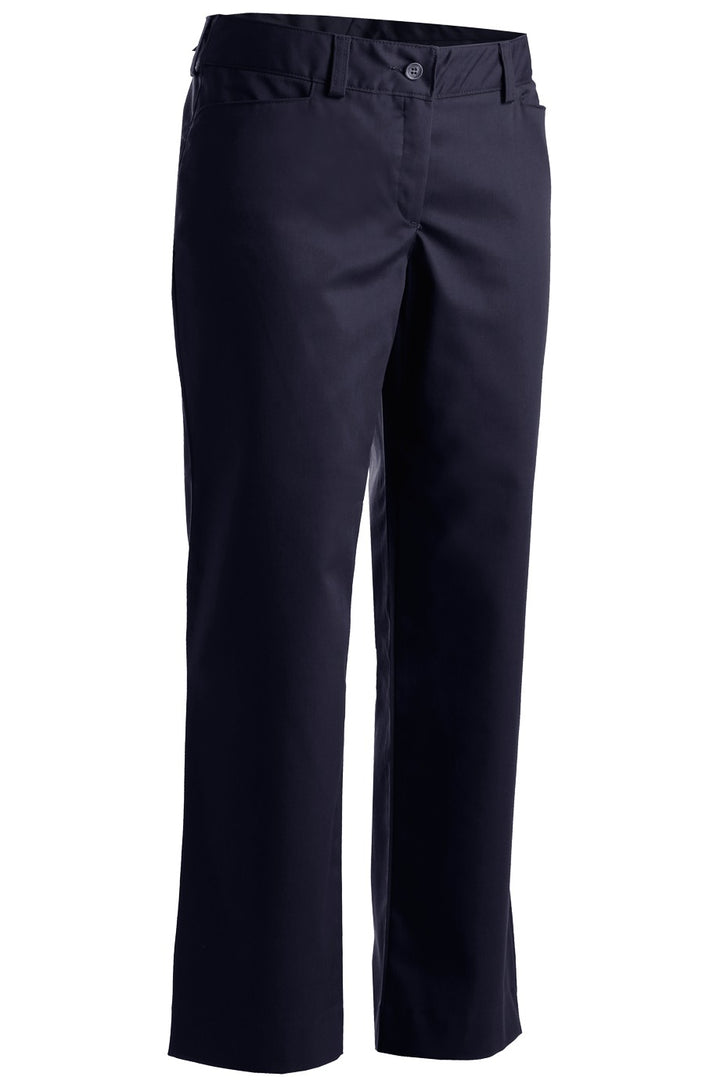 Women's Navy Mid-Rise Flat Front Rugged Comfort Pant