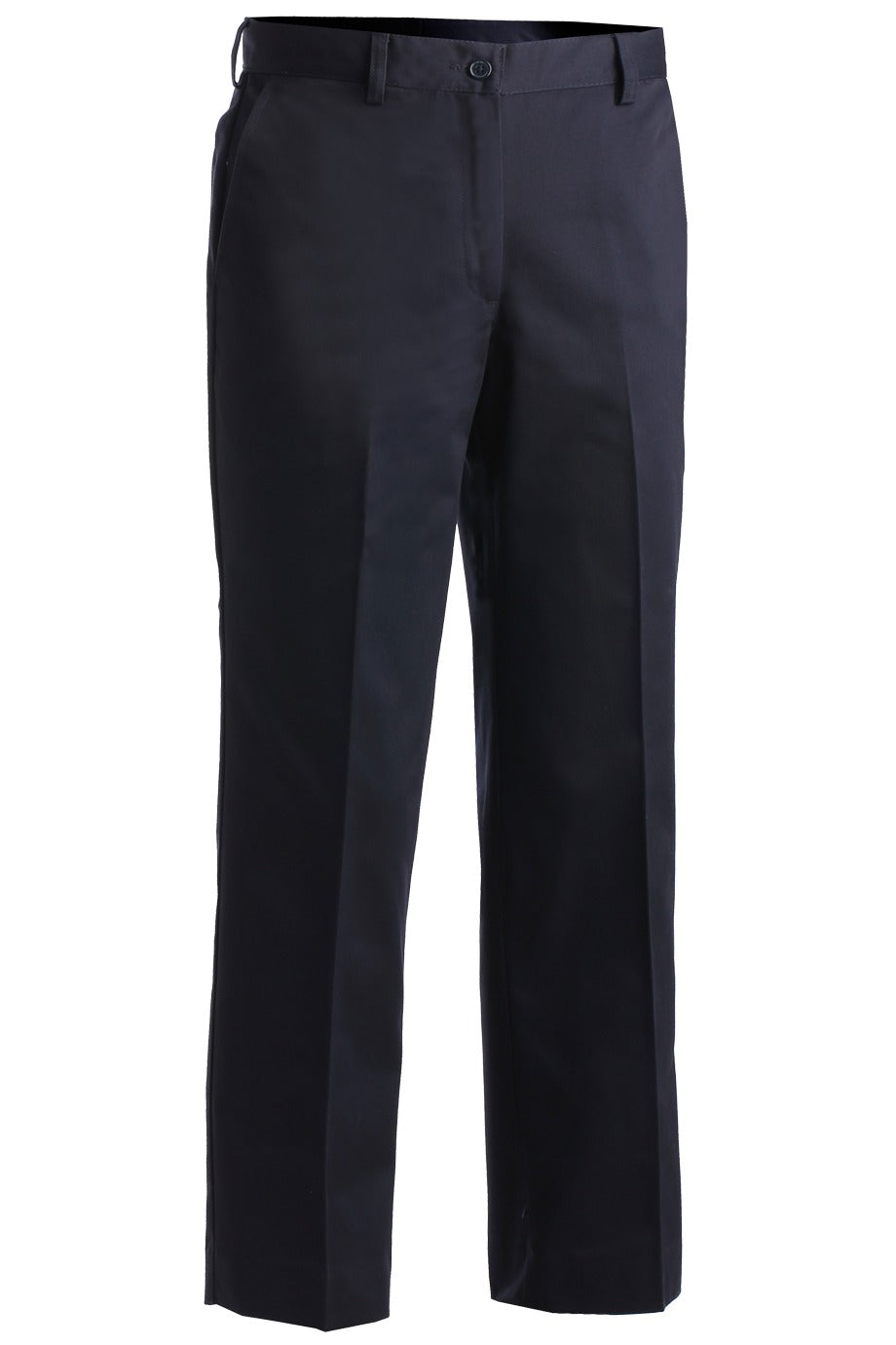 Women's Navy Utility Flat Front Chino Pant