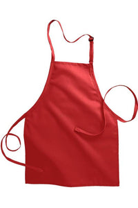 Red Bib Adjustable Apron (No Pockets)