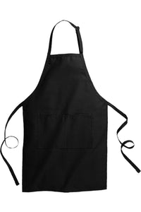 Black Butcher Apron (2 Pockets)