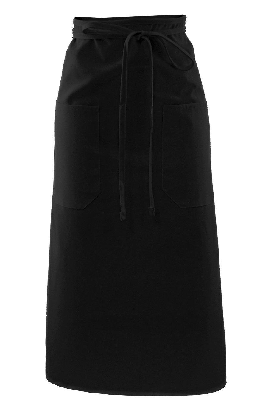 Black Long Bistro Apron (2 Pockets)
