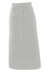 White Long Bistro Apron (2 Pockets)