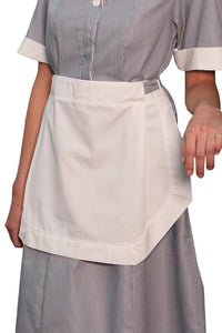 White Ladies' Tea Apron (No Pockets)