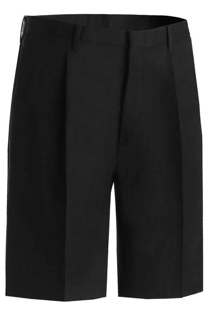 Men's Black Pleated Shorts