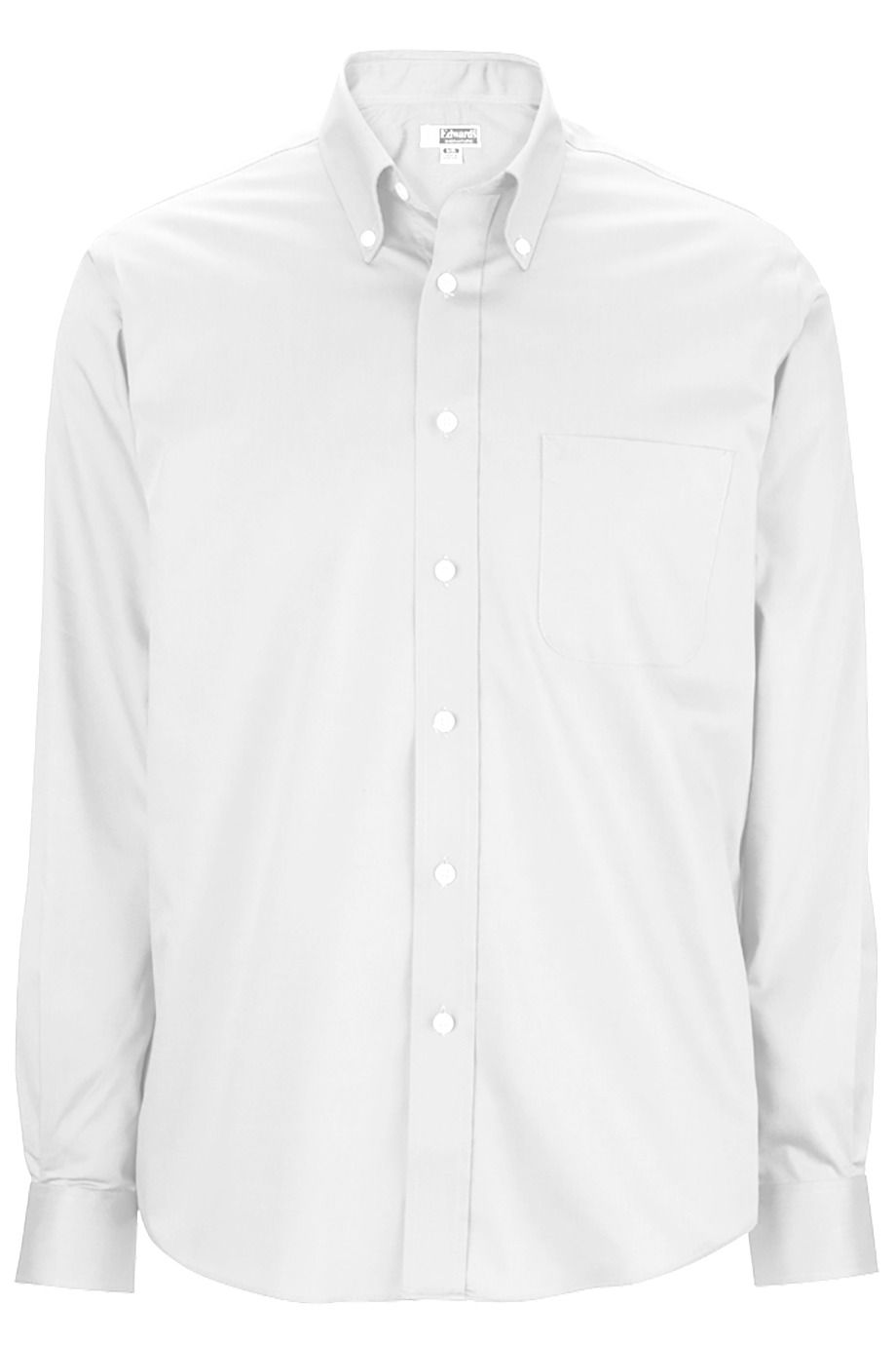 Men's White Oxford Non-Iron Button Down Collar Dress Shirt