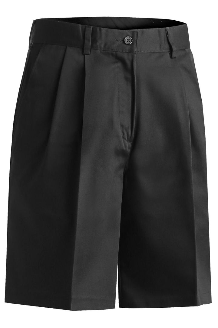 Women's Black Pleated Utility Shorts