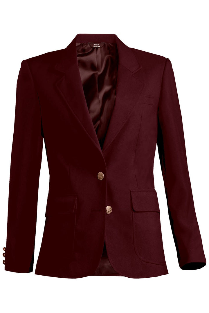 Women's Burgundy Value Blazer